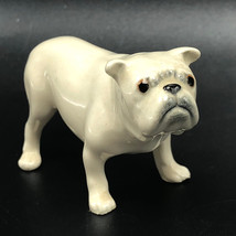 ENGLISH BULLDOG FIGURINE SCULPTURE vintage porcelain puppy dog hagen ren... - $33.66