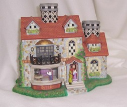 PartyLite Bristol House Olde World Village Hand Painted Bisque Porcelain... - $29.68