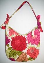 Vera Bradley Hello Dahlia Retired Hobo Shoulder Bag Purse Pink Flowers - ₹1,424.63 INR