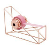 Tape Dispenser Desktop Art Storage Iron Cutter Rose Gold Organizer Offic... - $335,27 MXN