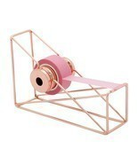 Tape Dispenser Desktop Art Storage Iron Cutter Rose Gold Organizer Offic... - $17.81