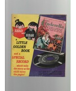 Cinderella - Read & Hear - Little Golden Book & Record - 1960 - 45 RPM 0... - $2.93