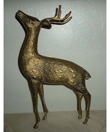 Vintage Brass- Mid Century Solid Heavy Large Detailed Collectible Reinde... - $325.00