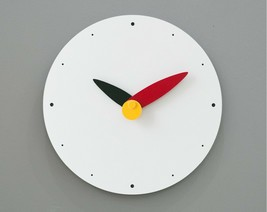 Moro Design Spread the Wings Wall Clock non Ticking Silent Modern Clock (Red) image 2