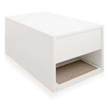Way Basics Cat Litter Sidetable, White - $99.98