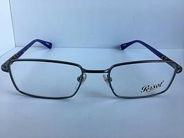 New Persol 2444-V Silver Purple 53mm Rx Rectangular Men's Eyeglasses Frame  - $149.99