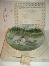 1986 Knowles First Issue Pintail Living With Nature Plate w/ COA and Box - $14.99