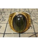 So rare magic green Naga Eye stone ring super protective Top Thai Buddha... - $9.99