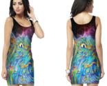 Dmt spirit molecule psychedelic cat trip bodycon dress thumb155 crop