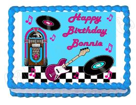 Rock and Roll 50's 60's Legends Edible Cake Image Cake Topper - $8.98+