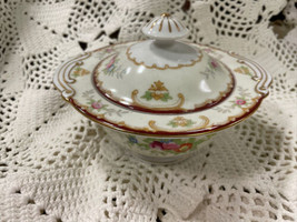 Japan KONGO CHINA Hand Painted Covered 5.5 Serving Bowl  - Floral - $47.41