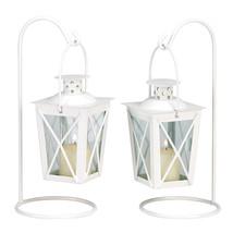 White Railroad Candle Lanterns 10039572 - $17.87