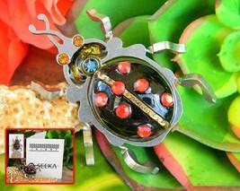 Ladybug Beetle Insect Brooch Pin Seeka Israeli Artist Industrial Laser - $49.95