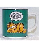 Vintage GARFIELD Birthday Coffee Mug by ENESCO - 1978 Jim Davis - $12.99