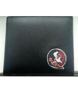 Florida State Seminoles Mens Black & Garnet Leather Bi-fold Wallet - $19.00