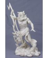 10.5 Inch Greek God Zeus with Lightning Bolt Statue Figurine - $29.04