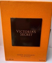 Victoria's Secret Perfume AMBER MANDARIN Eau de Parfum EDP 3.4 Oz Damage... - $34.60