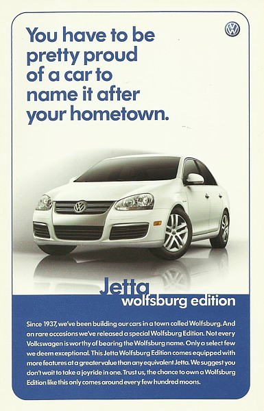 2007 Volkswagen JETTA WOLFSBURG Edition sales brochure sheet 07 VW