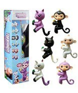 LOL Surprise - 4 PCS fingerlings Baby Monkeys, Unicorn Surprise Egg Ball - $422,78 MXN