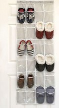 Shoe Organizer Hangs on Door White & Clear 24 Pockets STORAGE! ORGANIZAT... - €17,59 EUR