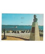 Barnegat Bay NJ Long Beach Island George Meade Plaque Lighthouse Postcard - $6.69
