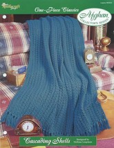 Cascading Shells One-Piece Afghan TNS Crochet PATTERN/INSTRUCTIONS/NEW/L... - $2.67