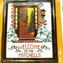 The Creative Circle Warm Welcome Christmas Cross Stitch Kit Door Tree Snow 2400 - $18.21