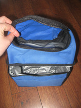 "2-Section Lunch Bag Cooler  Blue Black 8""x 6""x10"" - $5.99"