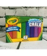 Crayola 48 Assorted Bright Color Washable Sidewalk Anti-Roll Chalk FAST ... - $24.90