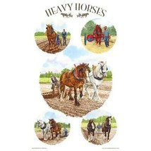 British Clydesdale Heavy Plow Horse Breed Tea Towel Made UK Shire Suffolk - $16.78
