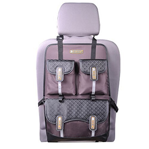 Multi-function Car Seat Back Organizer Suspension Type Oxford Storage Bag,COFFEE