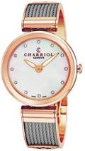 Charriol Women's Forever Diamond Dial Stainless Steel Quartz Watch FE32102005