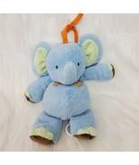 Carters Elephant Blue Green Brown Orange Musical Pull Toy Plush Baby Lov... - $14.99