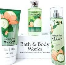 Bath & Body Works Cucumber Melon Gift Set of 3 Body Lotion, Fine Mist, B... - $32.18