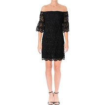 Lauren Ralph Lauren Womens Ashlyn Lace Sheath Cocktail Black Dress 10, 2... - $89.09