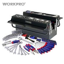 WORKPRO 183PC Tool Set Home Tools Metal Tool Box Set Repair Tool Kits Sc... - $138.38
