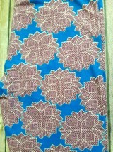 Lularoe Leggings OS, NWT Geometric Flower Blue and Purple image 2