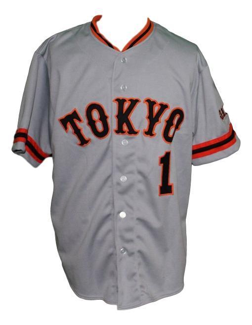 Sadaharu oh  1 yomiuri giants tokyo baseball jersey grey   1