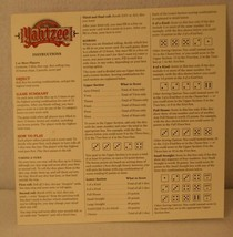 Yahtzee 40th Anniversary Collectors Edition Game Instructions & bonus chips ONLY - $19.95