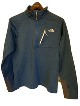 The North Face Men's Size Med 1/4 Zip Pullover Jacket Blue Gray - $39.97