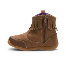 Surprize by Stride Toddler Girls' Brown Clementine Fringe Ankle Fashion Boots image 2