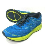 ASICS Noosa GS Running Training Shoes Blue Lime C711N Womens 8 or Girls 6.5 - $31.92