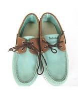 Timberland Chaussures Bateau Homme Taille 8.5 M 2-Eye Daim Aqua Teal Mar... - $68.07