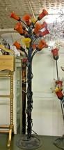 """Italian Murano Glass Tulip Floor Lamp Bronze Base  70"""" Tall - $1,425.00"""