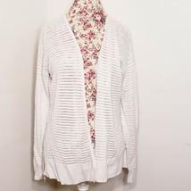 Ann Taylor LOFT Off White Loose Knit Cardigan Sweater Women's Size Large - $19.79