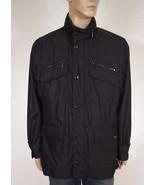 Michael Kors CS32C442J1 Men's Black Hooded Windbreaker Rain Field Jacket... - $95.99