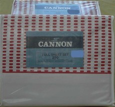 Cannon Rubie Rose Sheet Set - Brand New In Package - Cotton Blend 250 Tc Various - $39.99