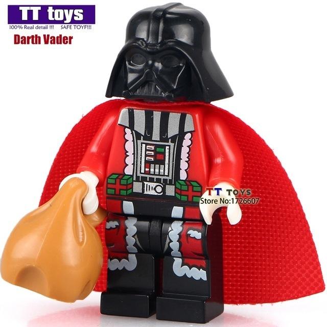 Darth Vader Merry Christmas minifigure building blocks bricks toys