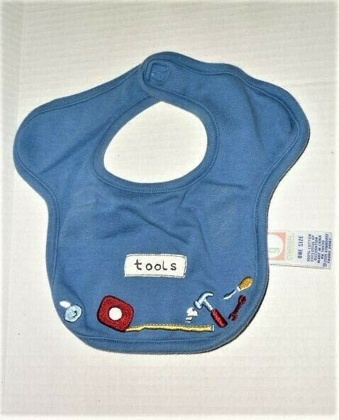 Primary image for VTG Gymboree 2001 Tools baby Boy Blue Bib Measuring Tape Hammer Wrench