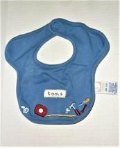 VTG Gymboree 2001 Tools baby Boy Blue Bib Measuring Tape Hammer Wrench - $14.84